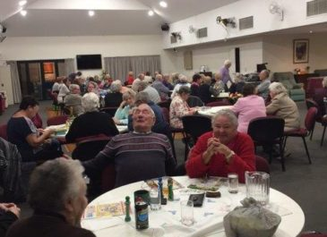 Friday night at our Mandurah Village – dinner and bingo!