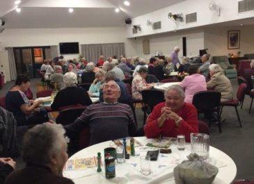 Friday night at our Mandurah Village – dinner and bingo!